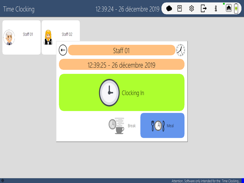 JYL TimeClock Screenshot